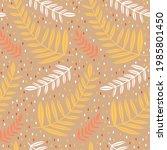 seamless pattern leaves plant...   Shutterstock .eps vector #1985801450
