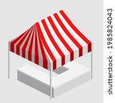 isometric market stall  tent.... | Shutterstock .eps vector #1985824043