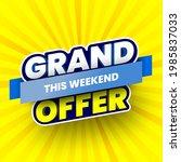 grand offer sale banner on... | Shutterstock .eps vector #1985837033