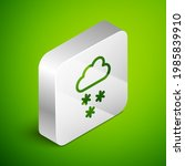 isometric line cloud with snow... | Shutterstock .eps vector #1985839910