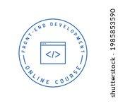 front end development icon.... | Shutterstock .eps vector #1985853590