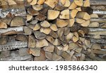 Small Stack Of Dry Firewood