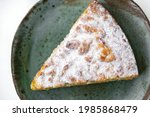 piece of pie in ceramic plate...   Shutterstock . vector #1985868479