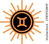 gemini zodiac astrology signs...   Shutterstock .eps vector #1985933849