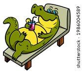 Funny Alligator Cartoon...