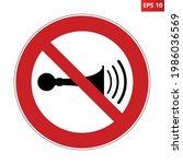 no honking sign. vector...   Shutterstock .eps vector #1986036569