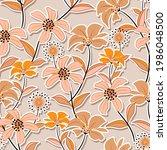 sweet mood of cute wild flower... | Shutterstock .eps vector #1986048500
