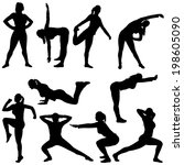 set of different poses for... | Shutterstock .eps vector #198605090