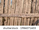 Old Dilapidated Wooden Fence...