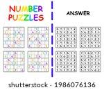 four sudoku for children with...   Shutterstock .eps vector #1986076136