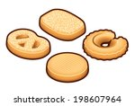 A selection of danish butter cookies.