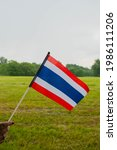 Thailand Hand Flag On Green...