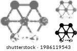 damaged blockchain halftone... | Shutterstock .eps vector #1986119543