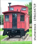 Old Red Train Wagon In Old Katy ...