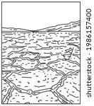 badwater basin in death valley...   Shutterstock .eps vector #1986157400