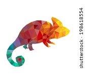 vector art colorful geometric... | Shutterstock .eps vector #198618554