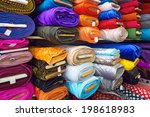rolls of textile  cloth and... | Shutterstock . vector #198618983