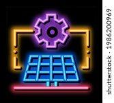 general solar setup neon light... | Shutterstock .eps vector #1986200969