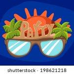 sunglasses for the beach summer ...   Shutterstock .eps vector #198621218