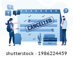 flight and trip cancelled due...   Shutterstock .eps vector #1986224459