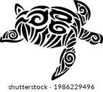 maori island tattoo styled sea...   Shutterstock .eps vector #1986229496