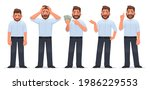 businessman character set. guy...   Shutterstock .eps vector #1986229553