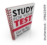 study for your test and get the ... | Shutterstock . vector #198623459