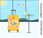 vector illustration of suitcase ...   Shutterstock .eps vector #1986247916