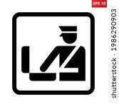customs control sign. vector... | Shutterstock .eps vector #1986290903