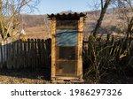Rustic Outdoor Wooden Toilet In ...