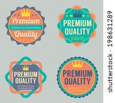 set of vintage retro badge | Shutterstock .eps vector #198631289