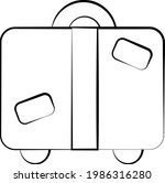 Single Element Suitcase. Draw...