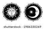 sun and moon symbol. celestial... | Shutterstock .eps vector #1986330269