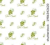 green shine muscat grapes... | Shutterstock .eps vector #1986342620