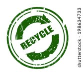 Green Grunge Recycle Sign With...