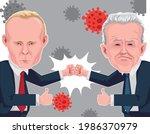 joe biden and vladimirovich...   Shutterstock .eps vector #1986370979