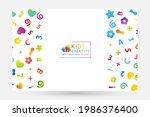colorful  fun letters confetti. ... | Shutterstock .eps vector #1986376400