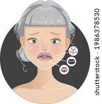 women lip problem girl 's...   Shutterstock .eps vector #1986378530