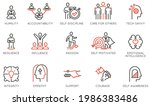 vector set of linear icons... | Shutterstock .eps vector #1986383486