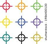 new target aim icon multi  ...   Shutterstock .eps vector #1986400130