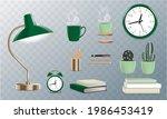 vector retro stationery set...   Shutterstock .eps vector #1986453419