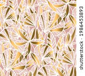 gold and pale rose tropical... | Shutterstock .eps vector #1986453893