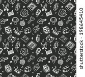 seamless doodle baby pattern... | Shutterstock .eps vector #198645410
