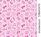 seamless doodle baby pattern... | Shutterstock .eps vector #198645470