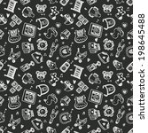 seamless doodle baby pattern... | Shutterstock .eps vector #198645488