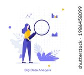 analyst looking at digits and...   Shutterstock .eps vector #1986458099