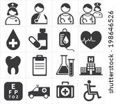 icon medical | Shutterstock .eps vector #198646526