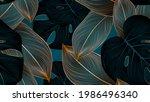 vintafe luxury golden seamless...   Shutterstock .eps vector #1986496340