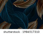 vintafe luxury golden seamless...   Shutterstock .eps vector #1986517310