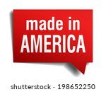 made in america red 3d... | Shutterstock .eps vector #198652250